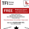 TFI Driving simple web ad, adapted for the web from a newspaper advert