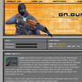 On Our Own - Counterstrike gaming site mockup